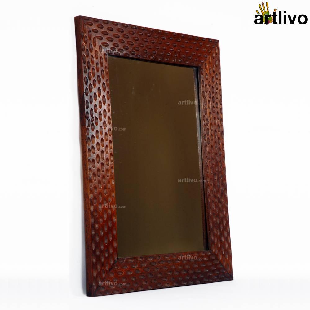 MERLOT Dimple Wooden Mirror Frame