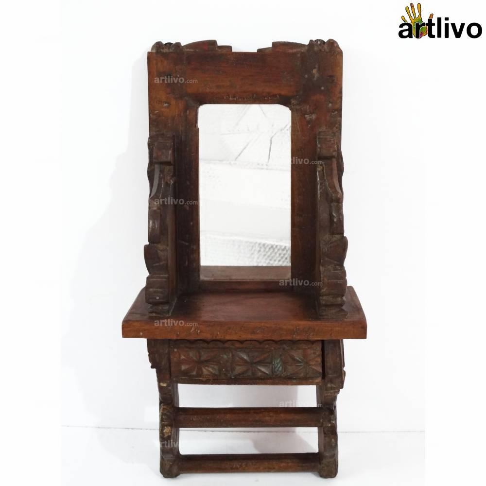 VINTAGE Wooden Elaborate Wall Mirror