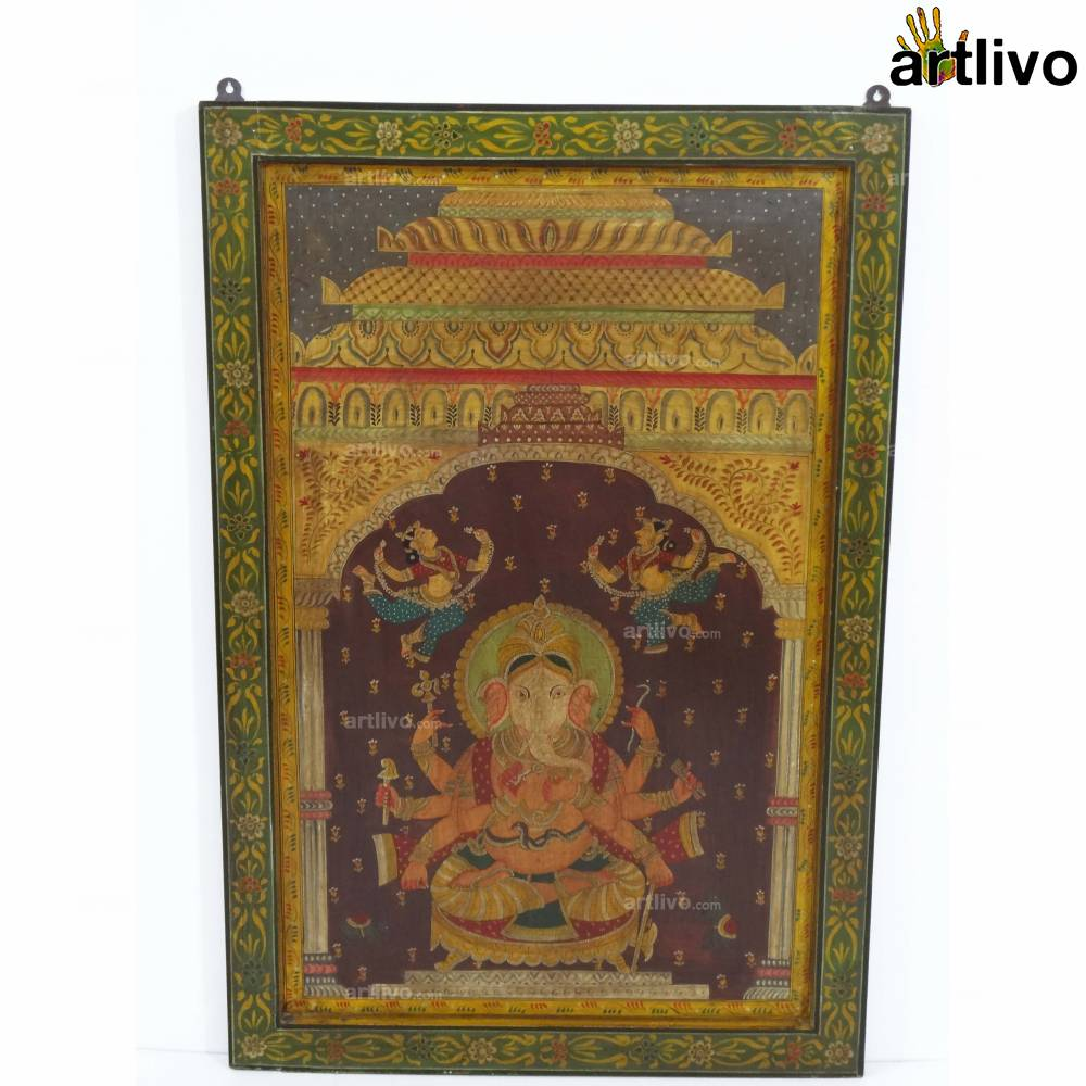 Detailed Ganesha Painting Panel