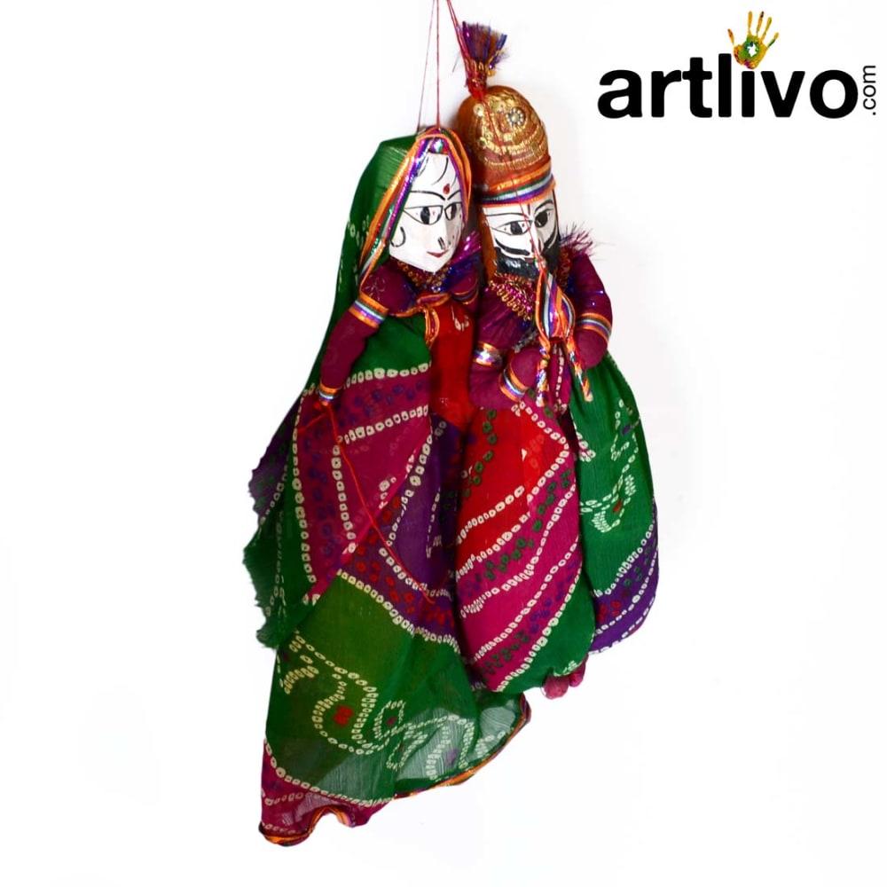 "POPART Multi Color Chundari Kathputli Puppet 20"" - PU027"