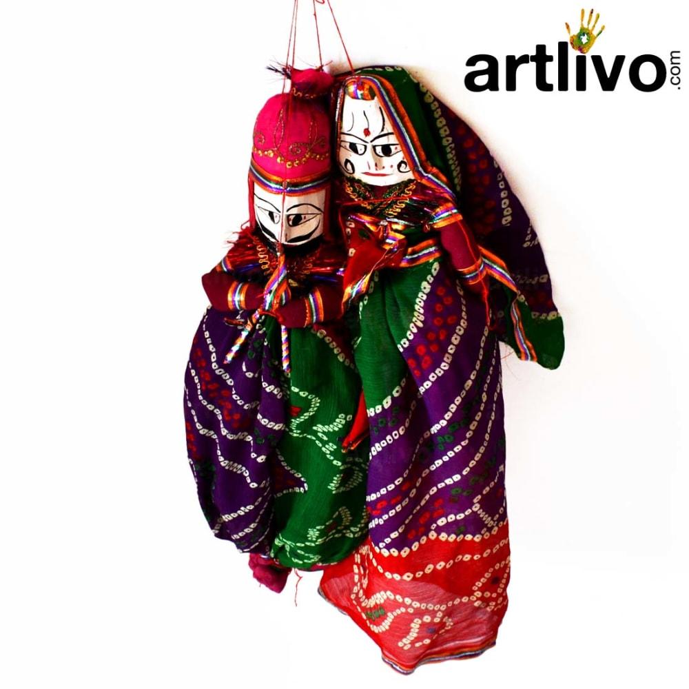 "POPART Multi Color Chundari Kathputli Puppet 20"" - PU028"