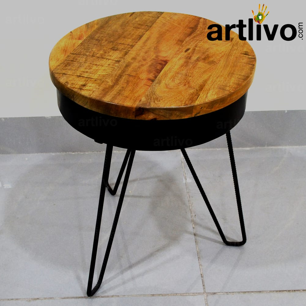 Industrial 3 Leg Side Table