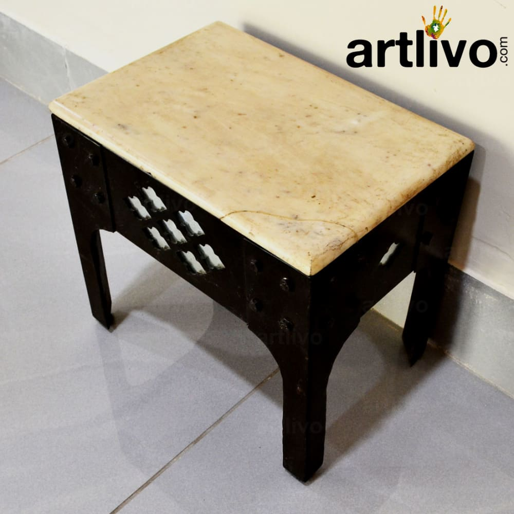 Stool with Marble Top - Small