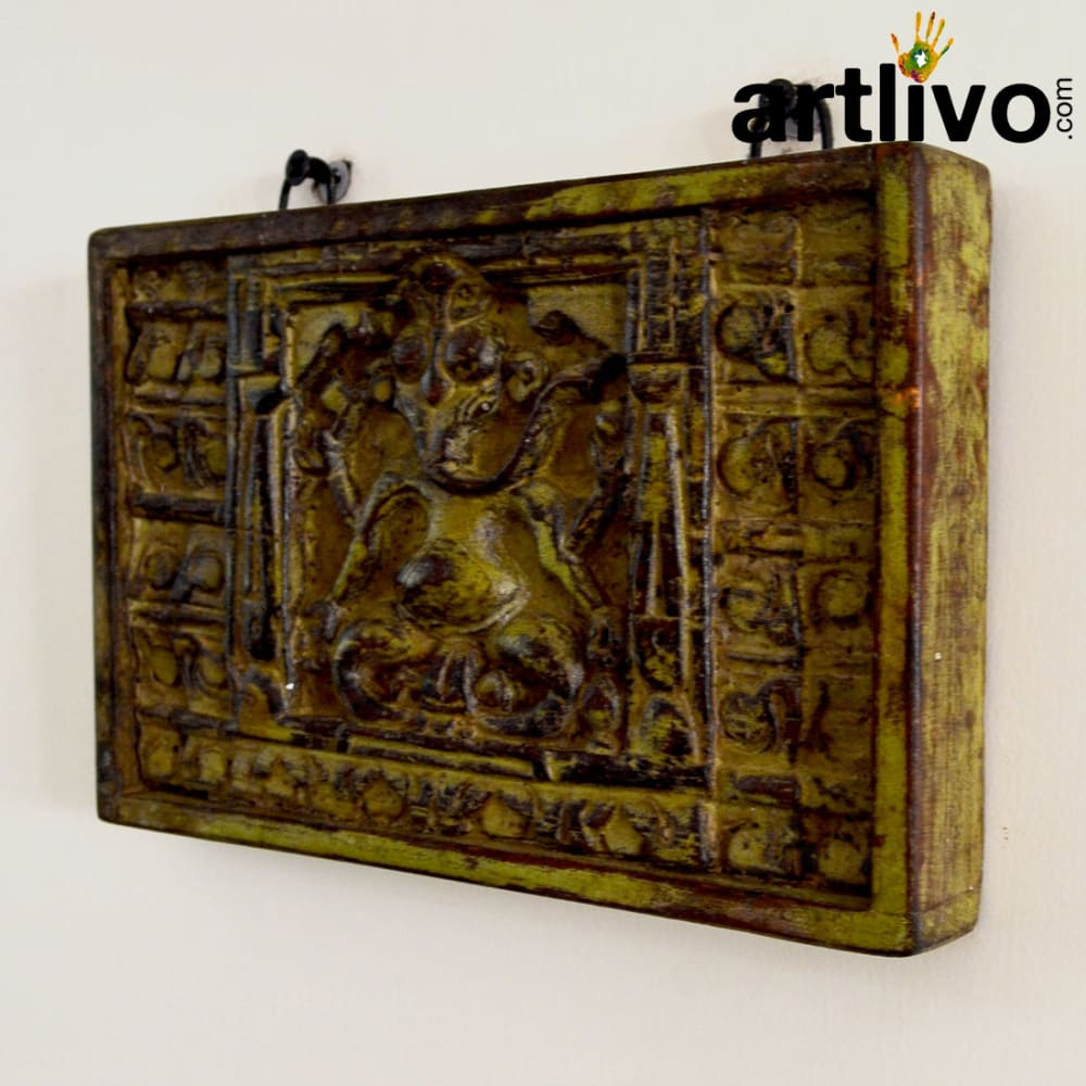 Wooden ganesha wall panel