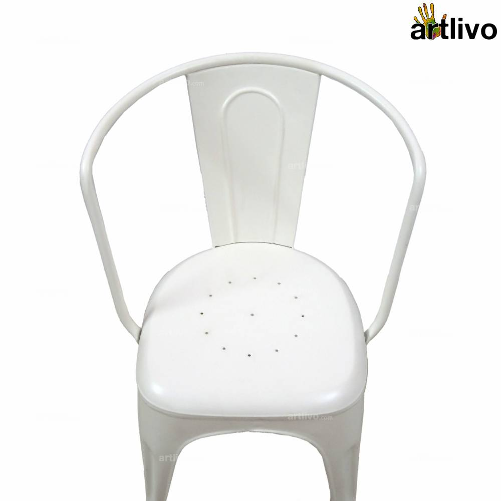 POPART French White Armchair
