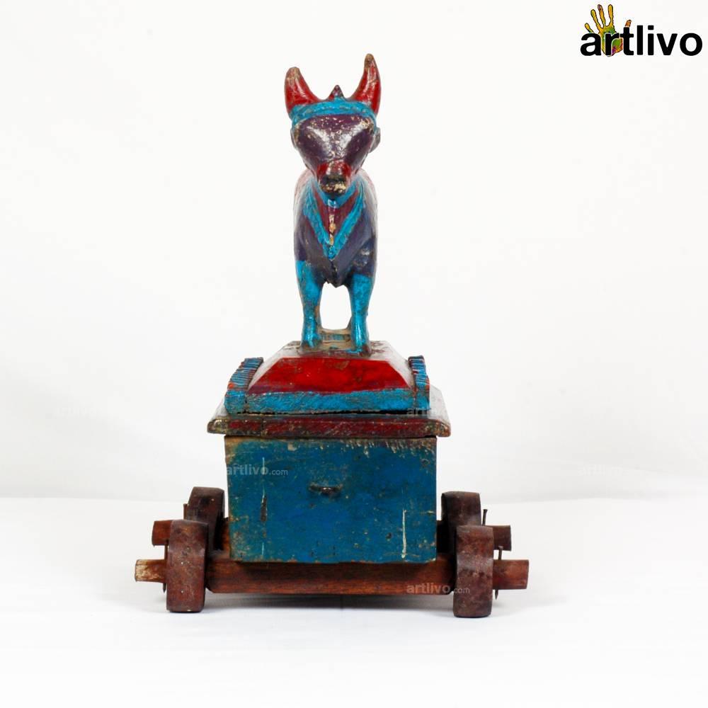 VINTAGE Nandi Bull Cart - Turquoise Blue