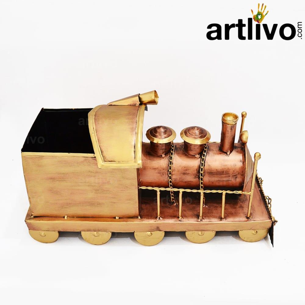 Artistic Vintage Train Engine