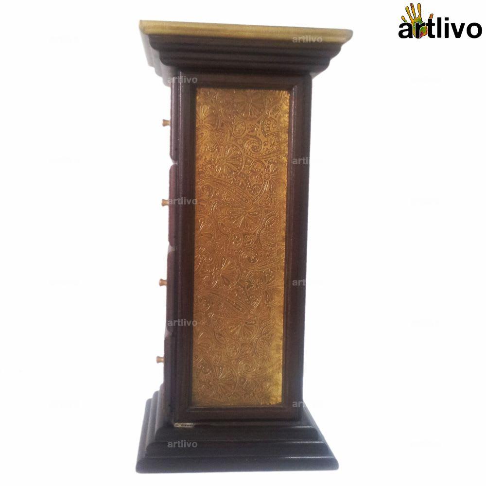 BLING 4 Drawer Pillar Table - TA041