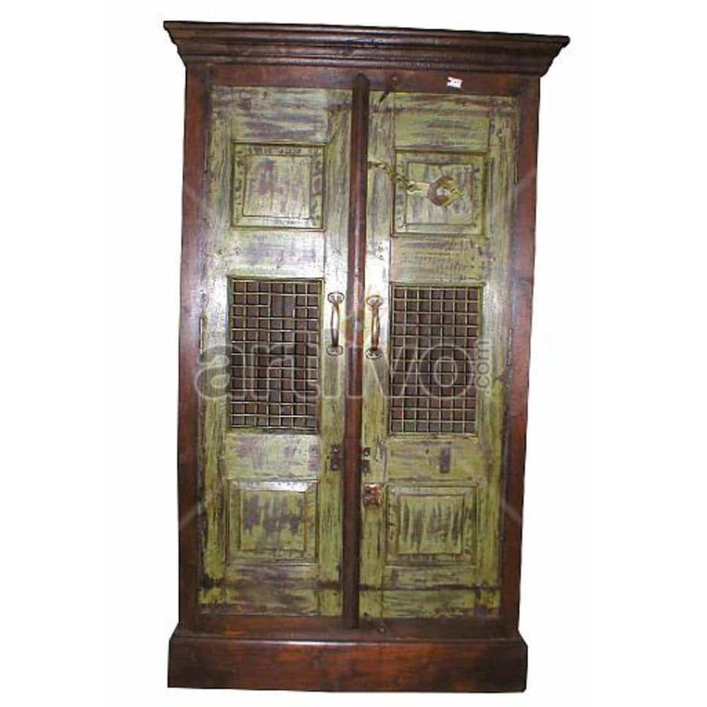 Vintage Indian Beautiful Luscious Solid Wooden Teak Almirah