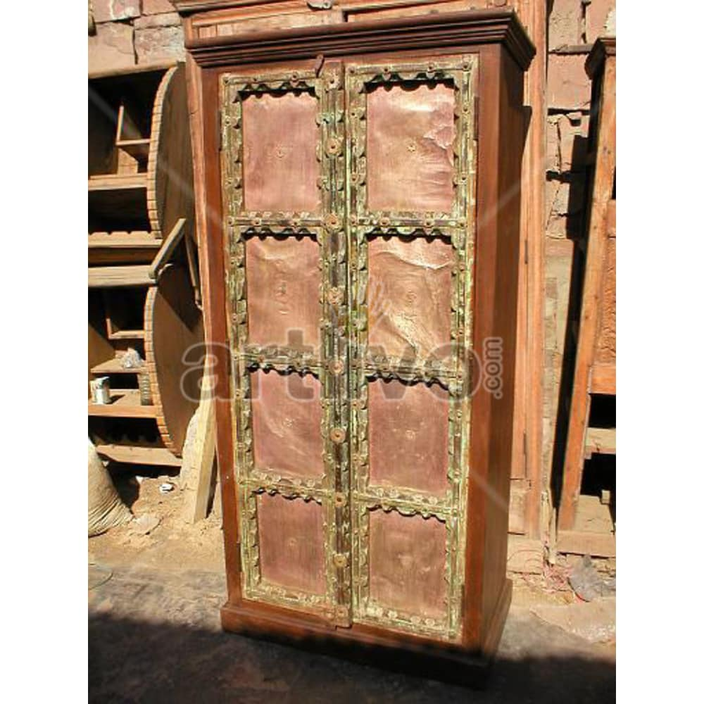 Vintage Indian Beautiful Superb Solid Wooden Teak Almirah