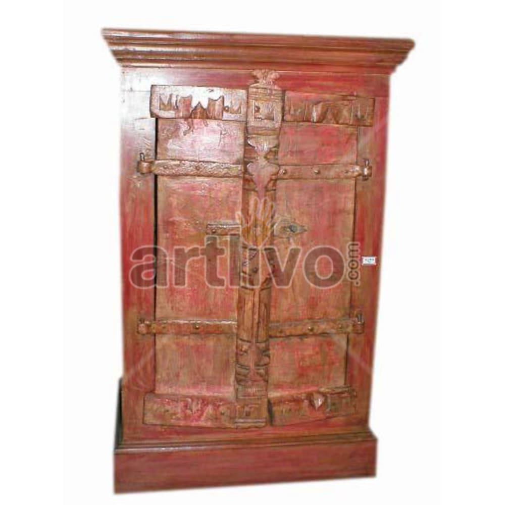 Vintage Indian Brown Splendid Solid Wooden Teak Almirah