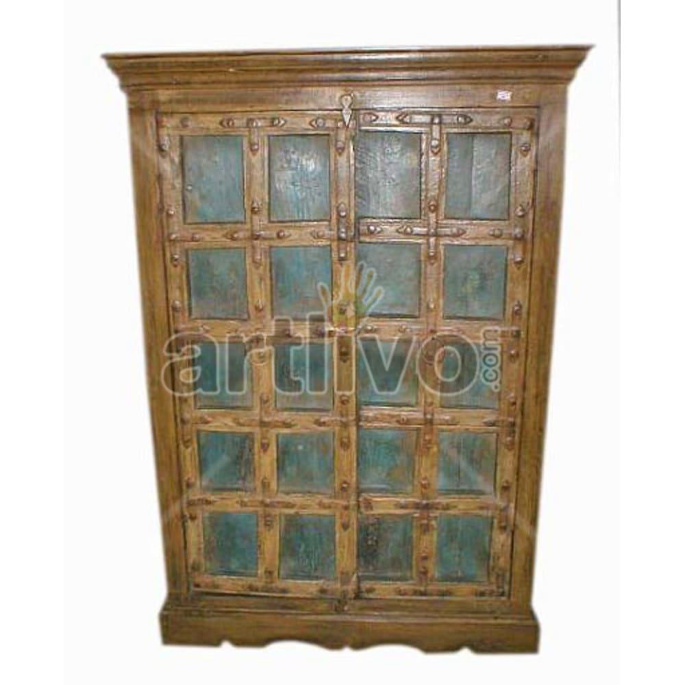 Antique Indian Carved Deluxe Solid Wooden Teak Almirah