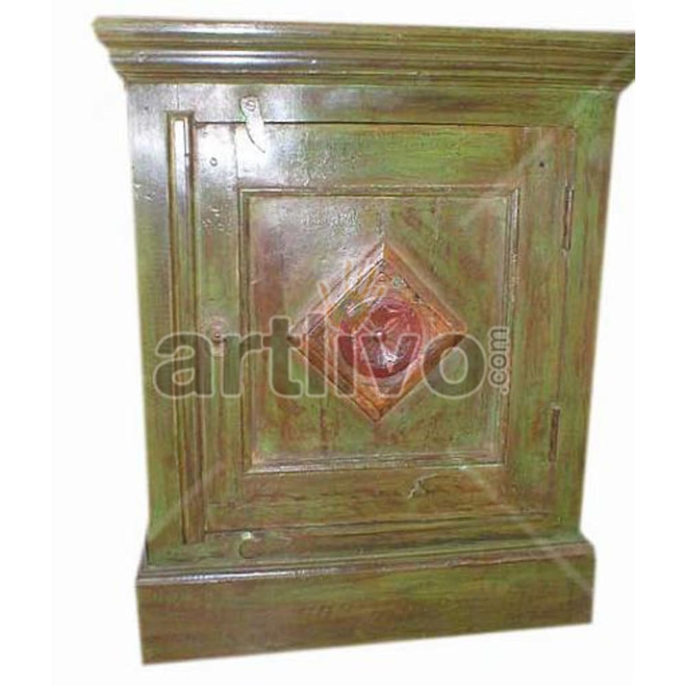 Old Indian Carved stately Solid Wooden Teak Almirah