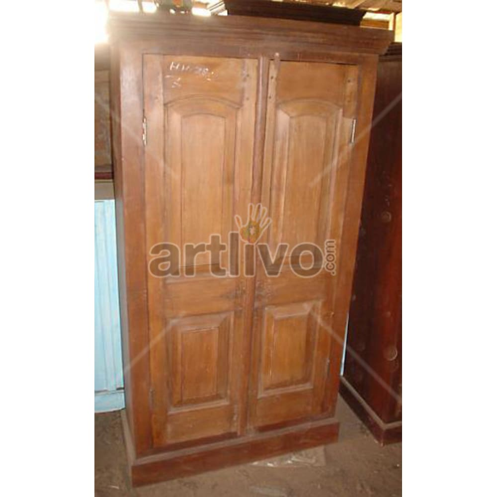Old Indian Chiselled magnificent Solid Wooden Teak Almirah
