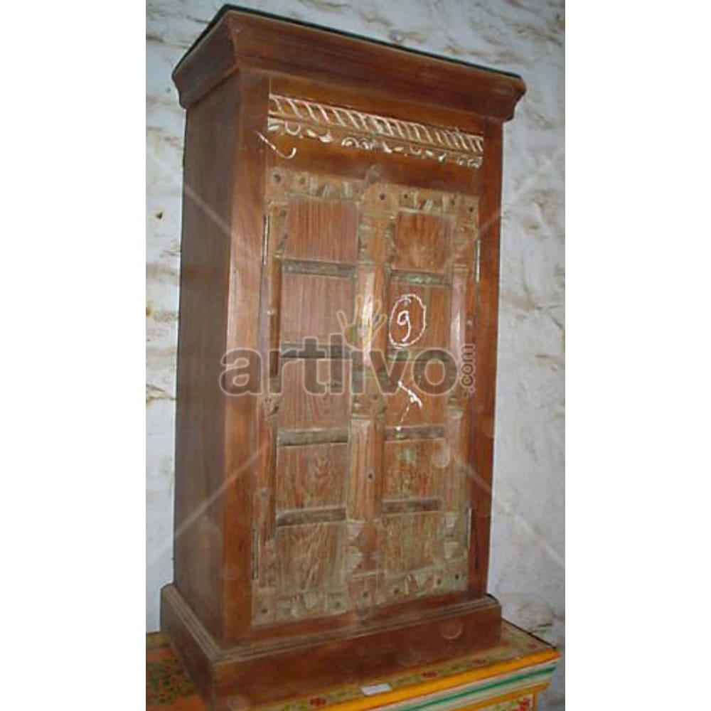 Old Indian Sculpted illustrious Solid Wooden Teak Almirah