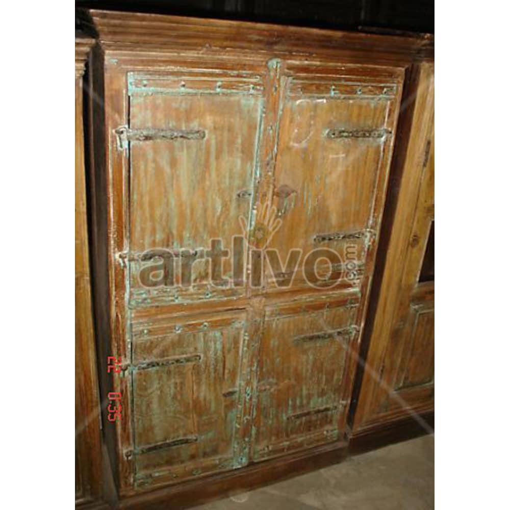 Old Indian Beautiful Rich Solid Wooden Teak Almirah