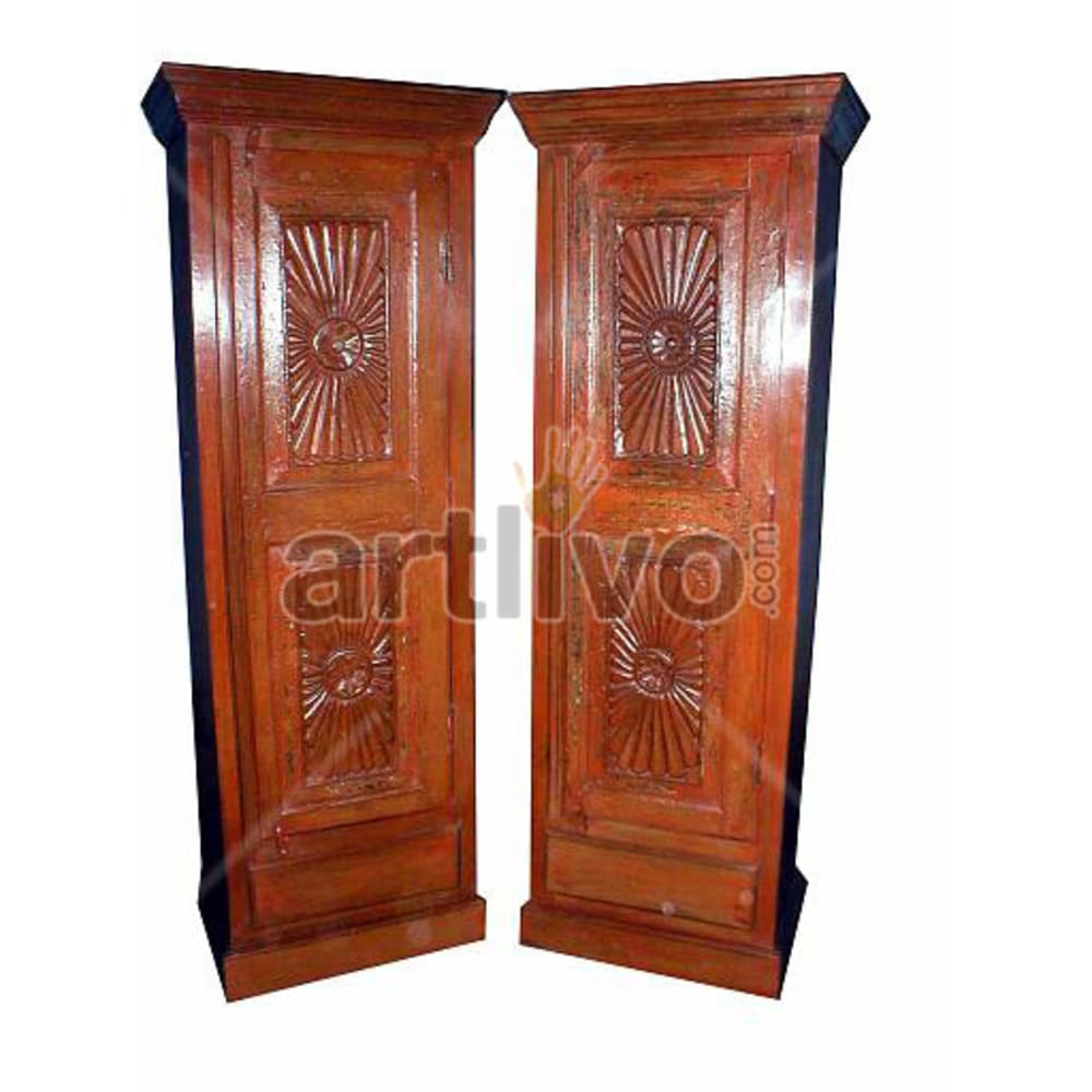Old Indian Beautiful Supreme Solid Wooden Teak Almirah