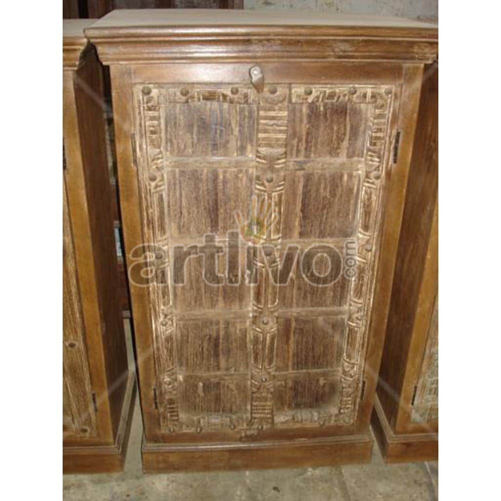 Old Indian Brown magnificent Solid Wooden Teak Almirah