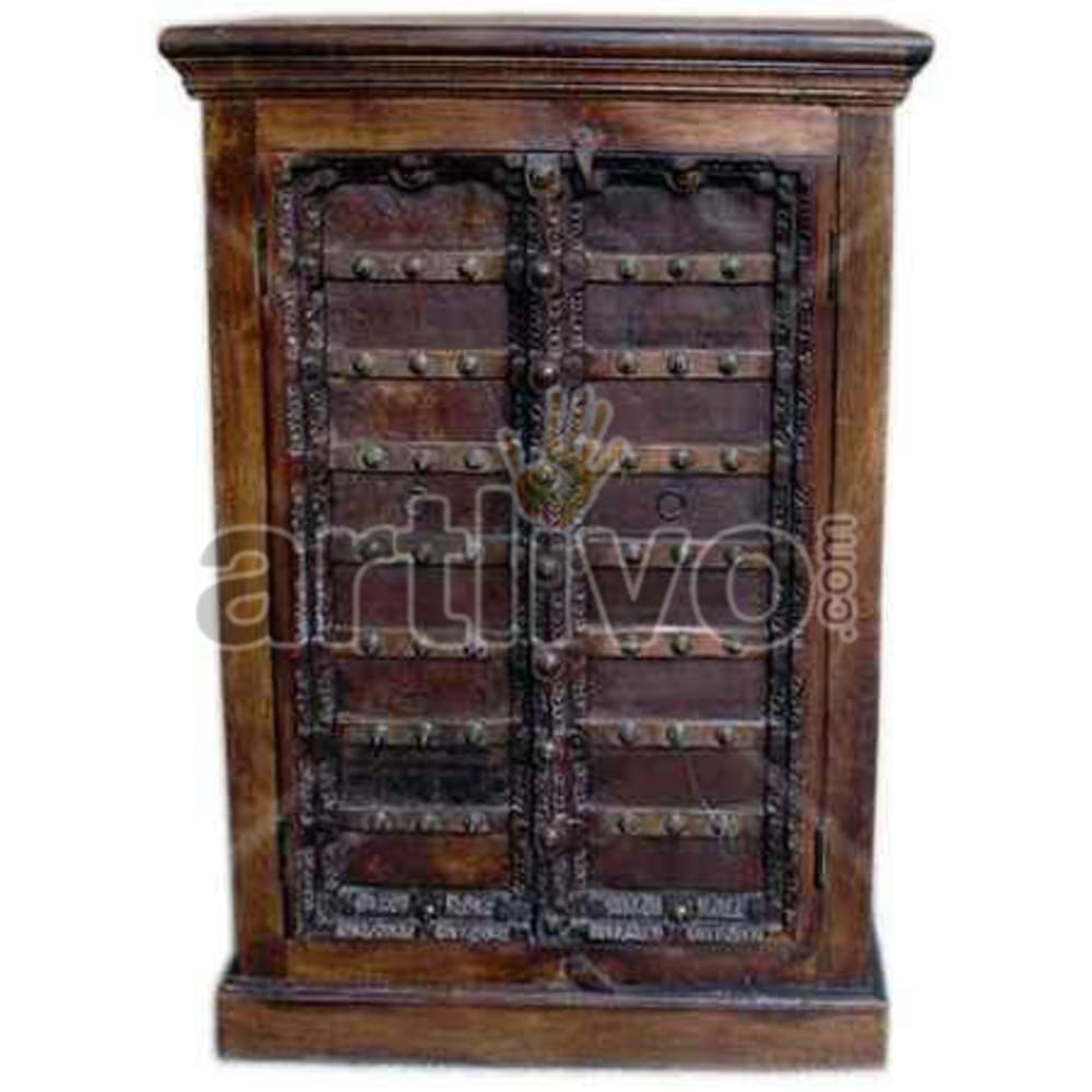 Restored Chiselled magnificent Solid Wooden Teak Almirah