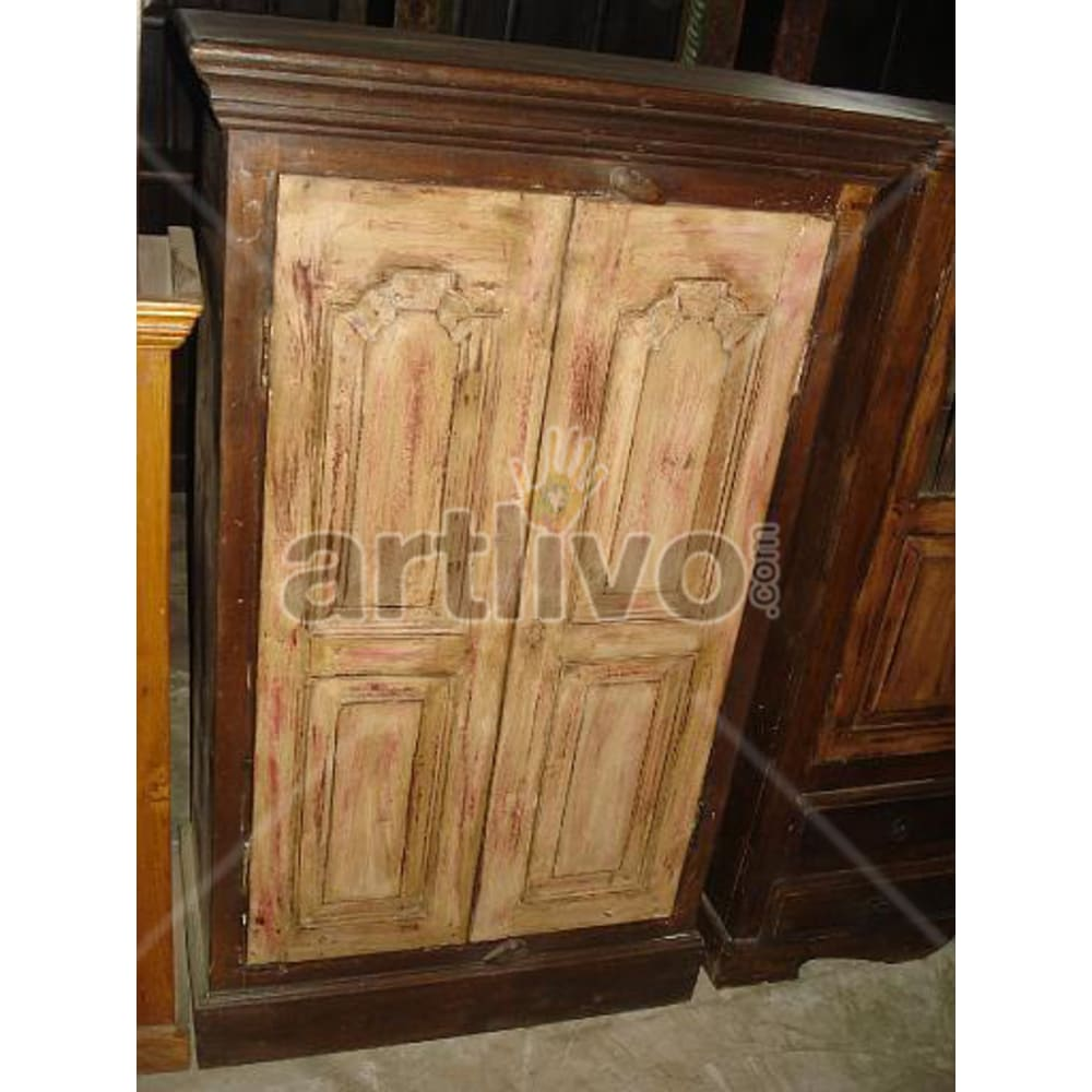 Restored Beautiful Palatial Solid Wooden Teak Almirah