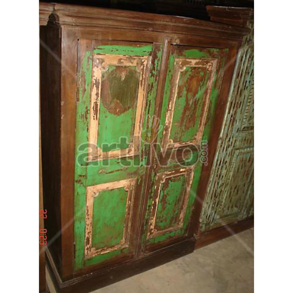 Restored Brown imperial Solid Wooden Teak Almirah