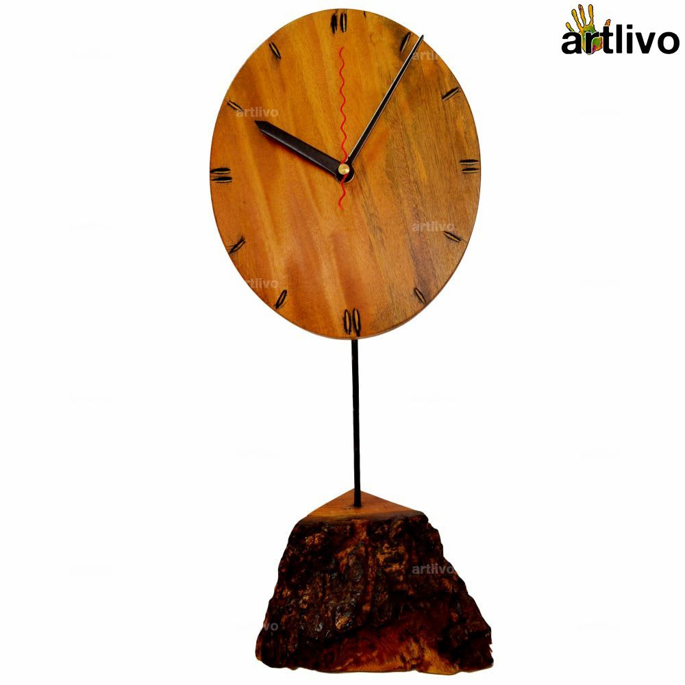 ECOLOG Raw Wood Table Clock