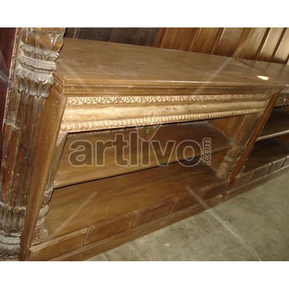 Vintage Indian Beautiful Superb Solid Wooden Teak Sideboard
