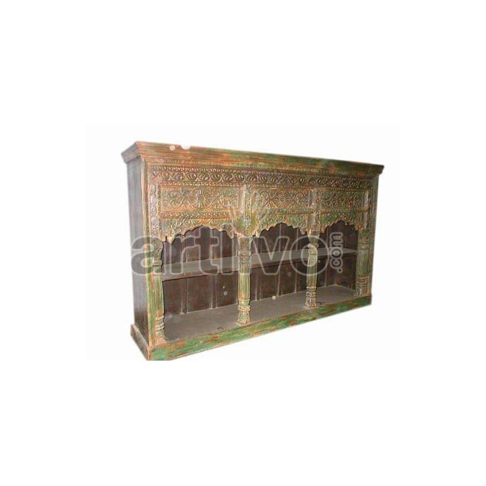 Antique Indian Brown noble Solid Wooden Teak Sideboard