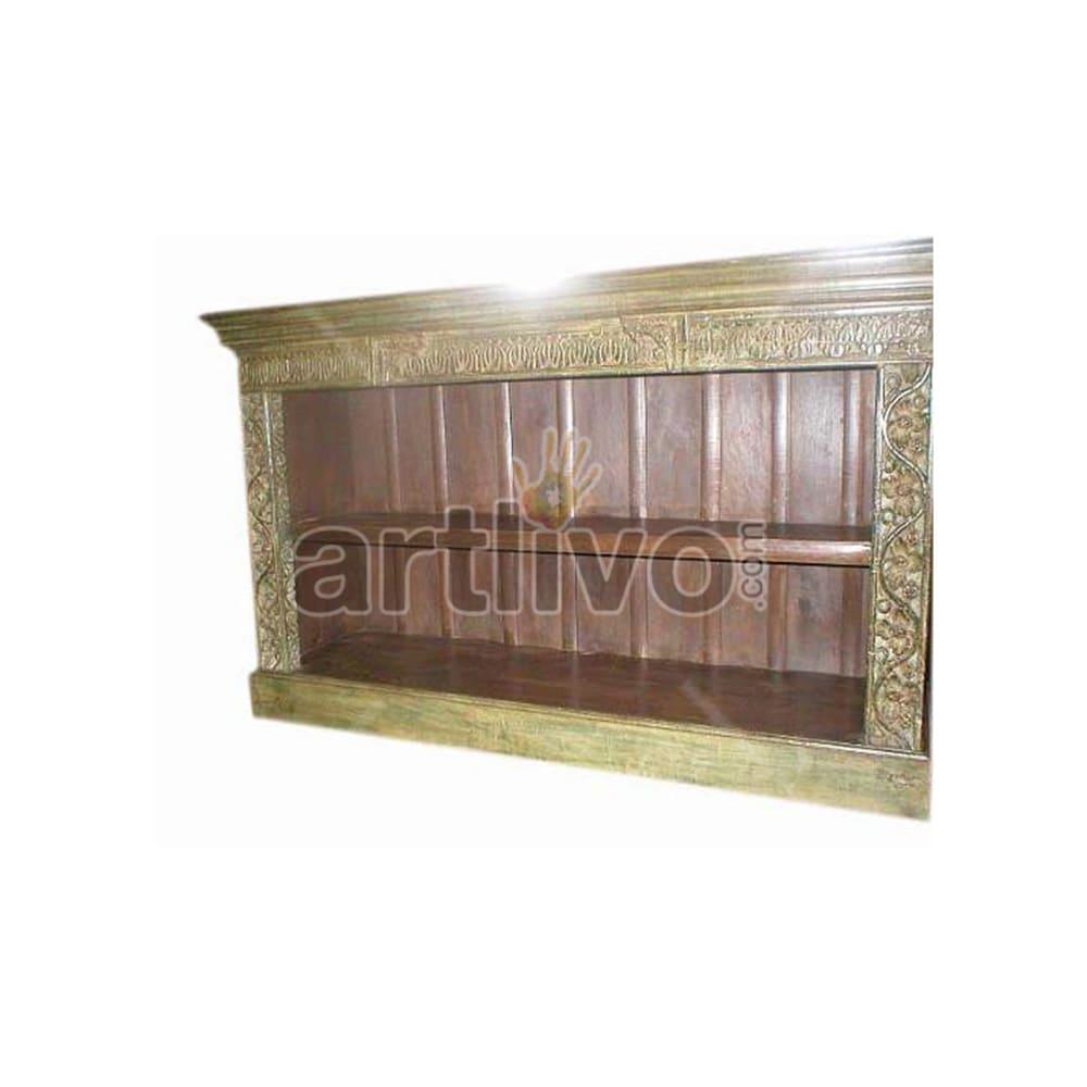 Antique Indian Brown Marvellous Solid Wooden Teak Sideboard