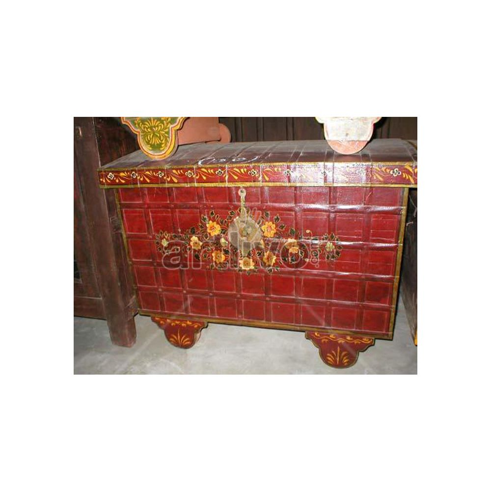Old Indian Brown Palatial Solid Wood red color design Trunk
