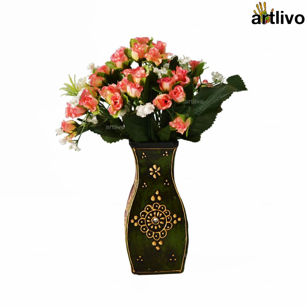 EMBOSSED Flamingo Flower Vase