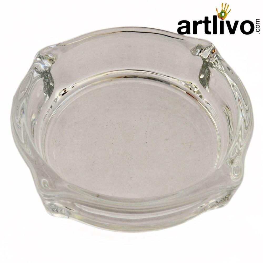 Dia Shaped unique glass ashtray