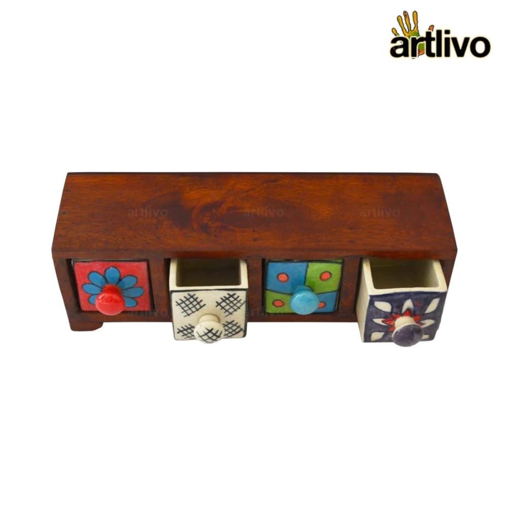 POPART Ceramic 4 Drawer Long Box - BO133