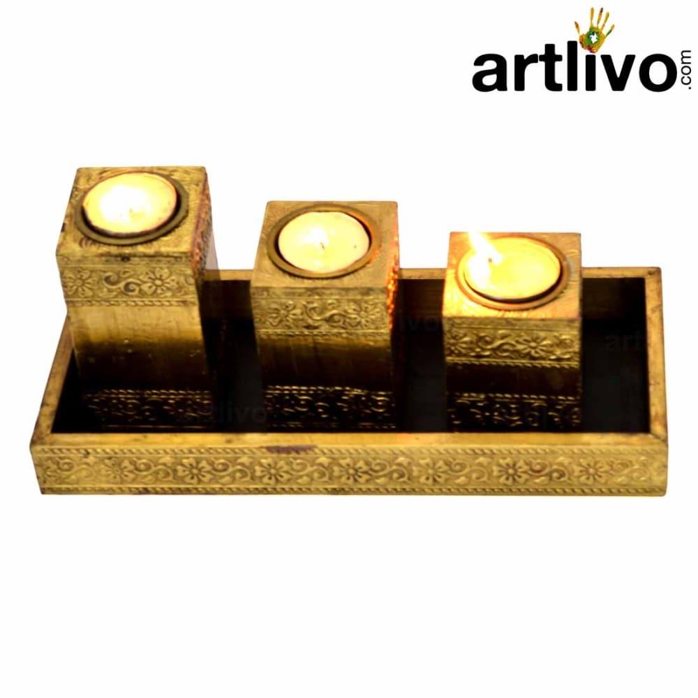 Tappered Tea Light Pillar Candle Stand
