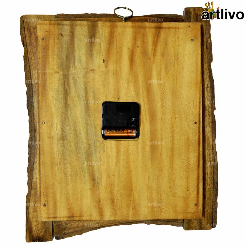 ECOLOG Natural Wood Wall Clock