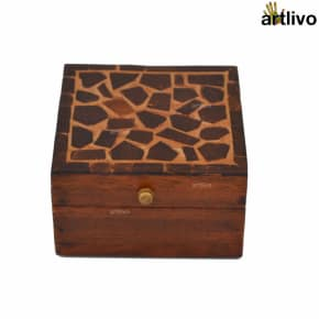 Coconut Shell Box - Square