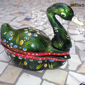 Painted Duck Kumkum Box