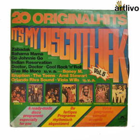 VINTAGE Gramophone Record - 20 Original Hits its my disco thek (With Cover)