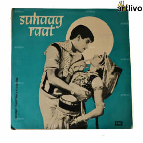 VINTAGE Gramophone Record - Suhaag Raat (With Cover)