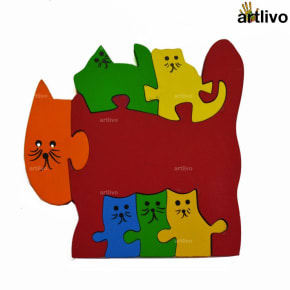POPART Jigsaw - Kitten Family