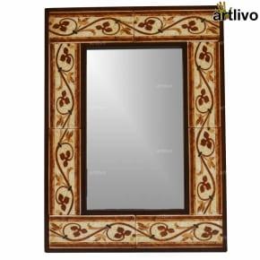 "22"" Decorative Bathroom Wall Hanging Tile Mirror Frame - MR031"