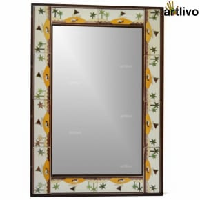 "32"" Decorative Wall Hanging Tile Mirror Frame - MR064"