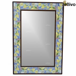 "32"" Decorative Wall Hanging Mirror of Tile Frame"