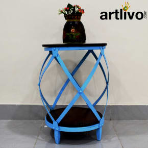 Popart Blue Side Table