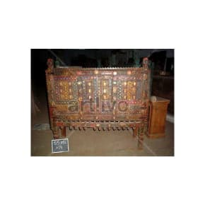 Antique Indian Beautiful Supreme Solid Wood small mirror glass fitted Trunk