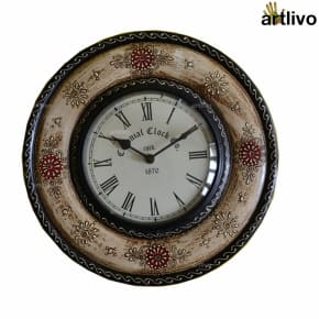 Painted Round Wall Clock