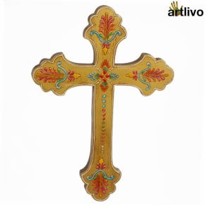 EMBOSSED Wall Hung Cross - WH009