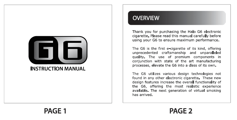halo g6 manual