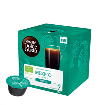Nescafé Mexico Grande package and capsule for Dolce Gusto