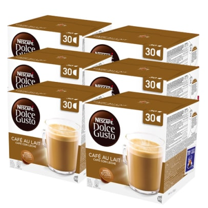 Nescafé Café au Lait 180 package for Dolce Gusto